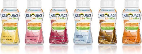 Trinknahrung RESOURCE 2.0 FIBRE ballaststoffhaltig, verschiedene Sorten, 24x200ml