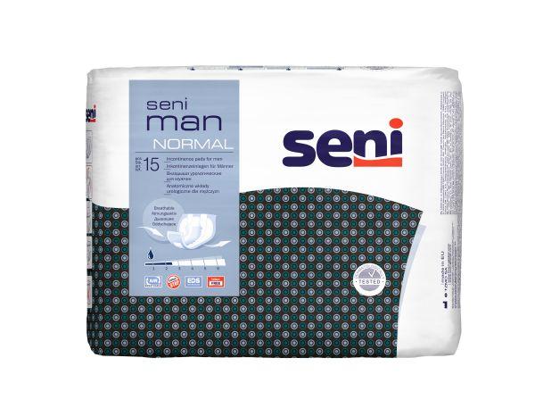 Seni MAN NORMAL, 8x15 Stück, atmungsaktive Einlagen für Männer
