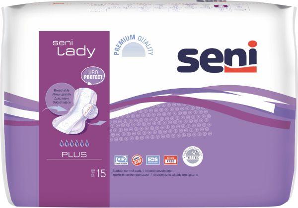 Seni LADY PLUS, 90 Stück, atmungsaktive Einlagen für Frauen