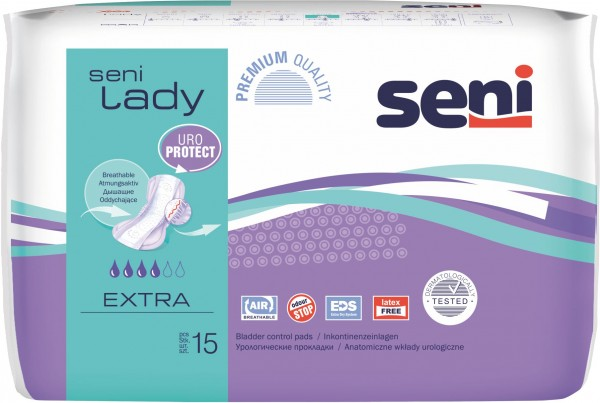 Seni LADY EXTRA, 16x15 Stück, atmungsaktive Einlagen für Frauen