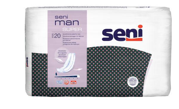 Seni MAN SUPER, 6x20 Stück, atmungsaktive Einlagen für Männer